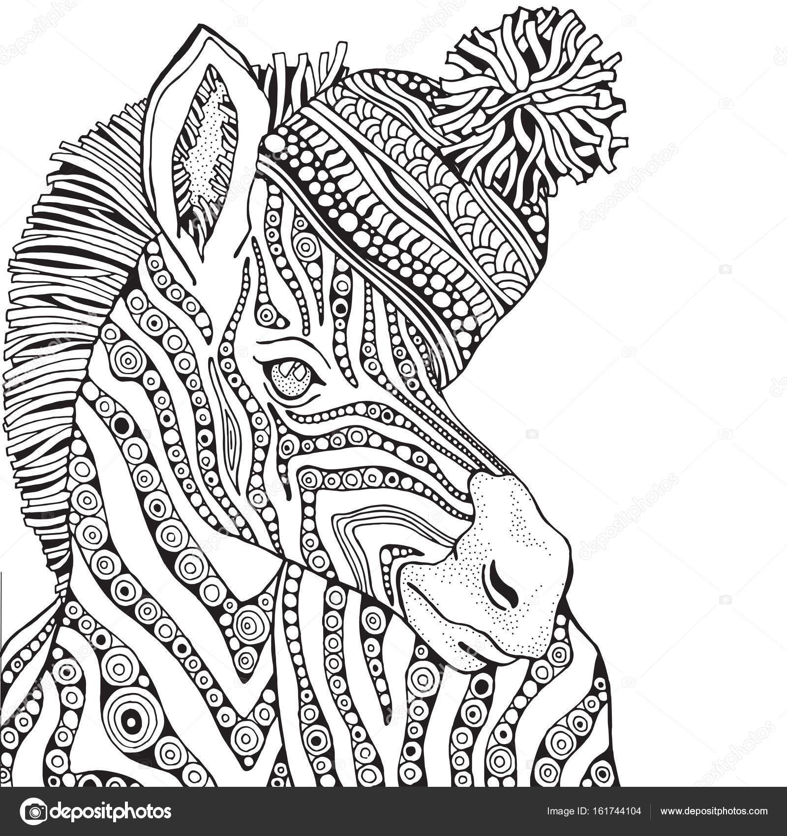 Kleurplaten Volwassenen Zebra.Zebra In Zentangle Stijl Stockvector C Imhope Yandex Ru 161744104