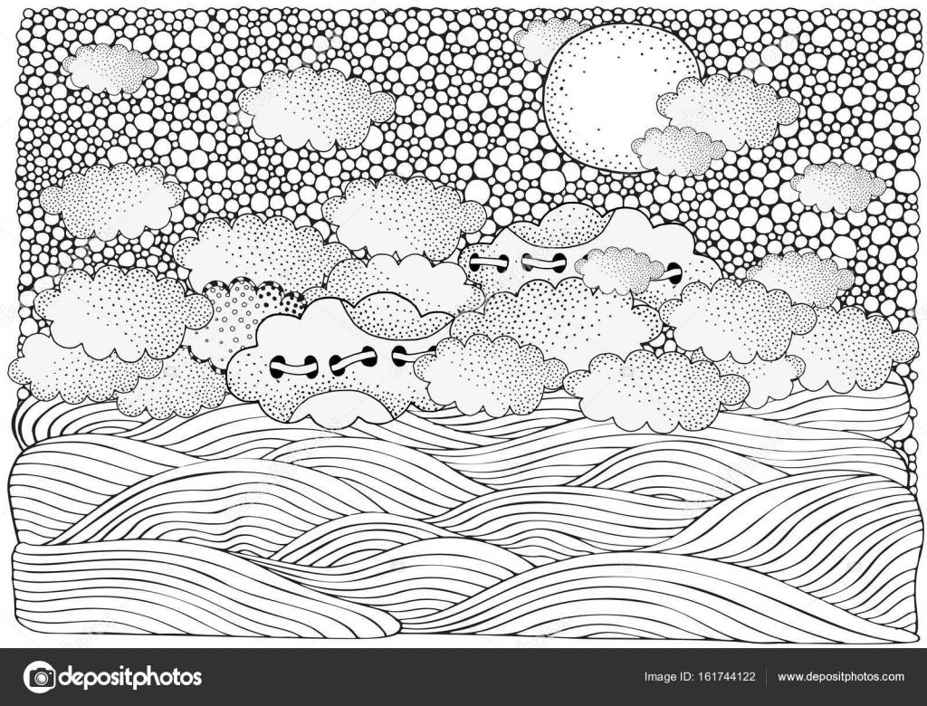 Fantasy Bild mit Mond und Meer — Stockvektor © imhope.yandex.ru ...