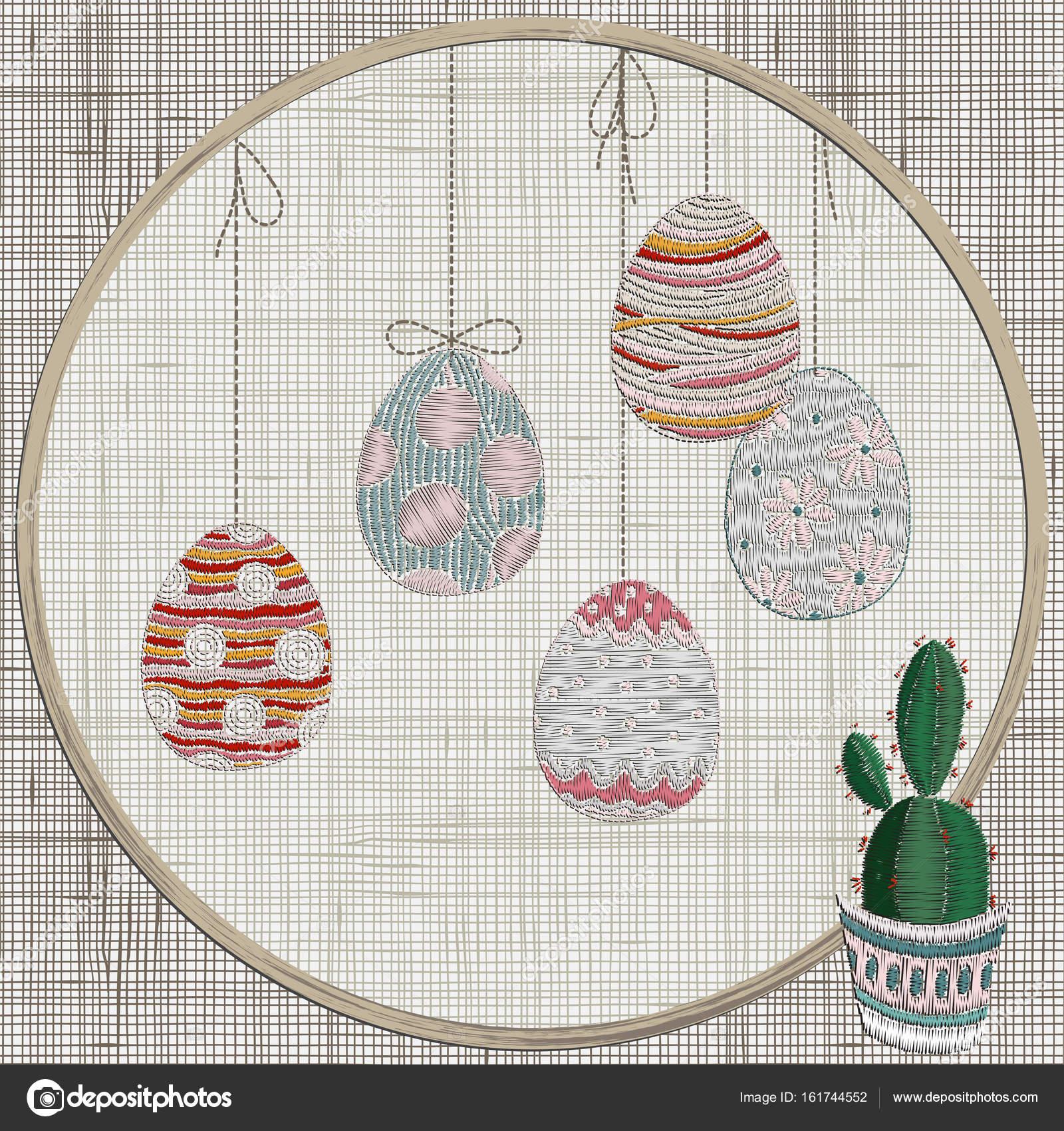 Bordado con colgar de los huevos de Pascua — Archivo Imágenes ...