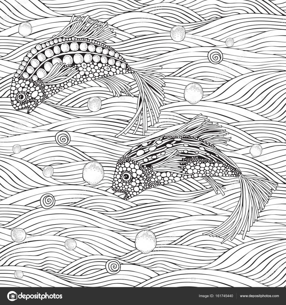 Zwei fantastische Fische — Stockvektor © imhope.yandex.ru #161745440