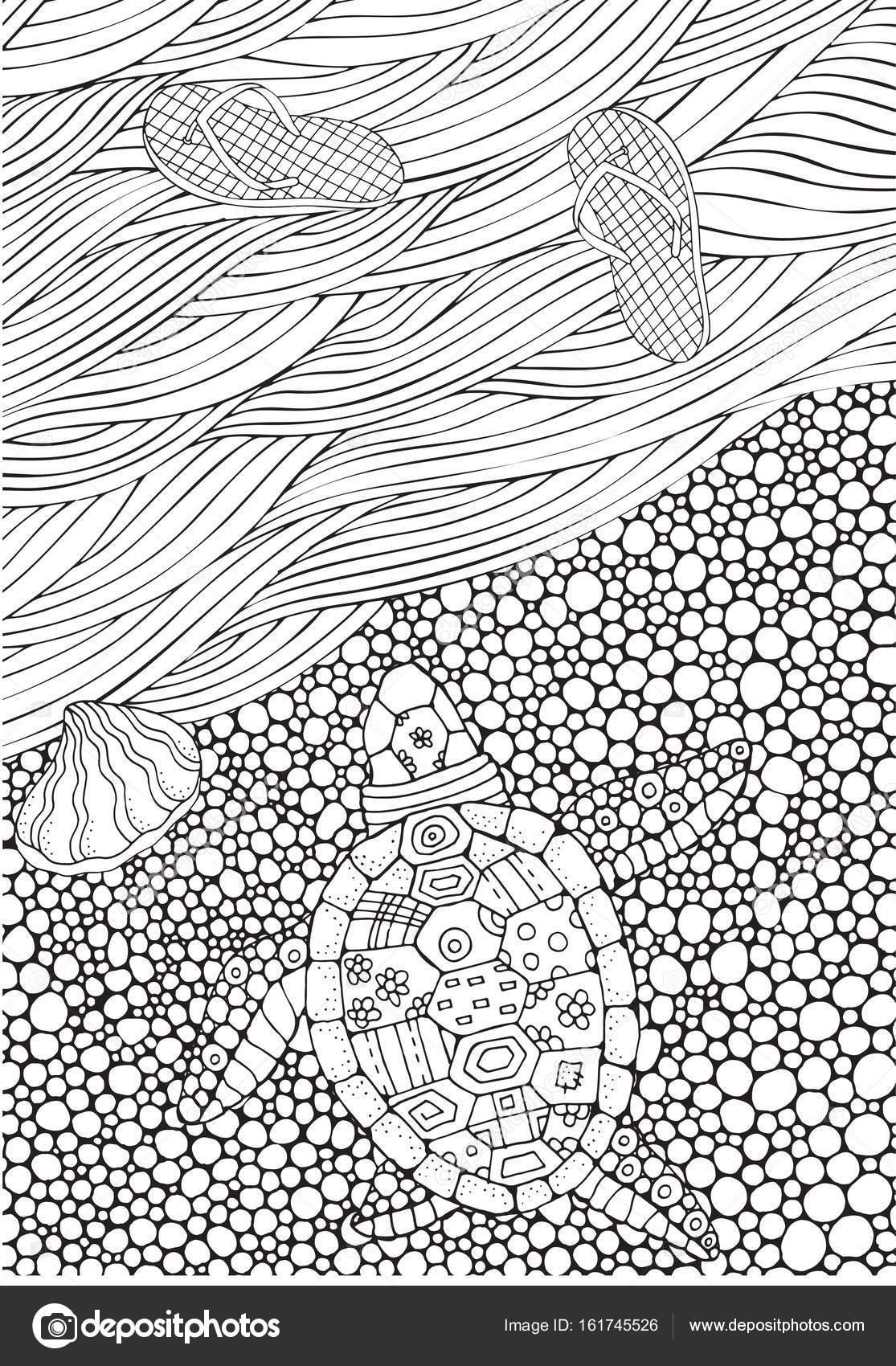 Tortuga de arrastre al agua — Archivo Imágenes Vectoriales © imhope ...