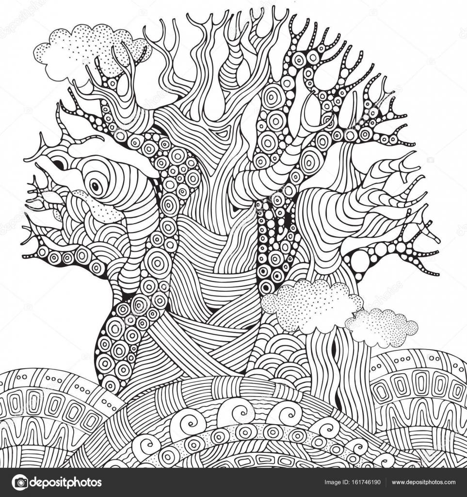 Afrikanischer Affenbrotbaum — Stockvektor © imhope.yandex.ru