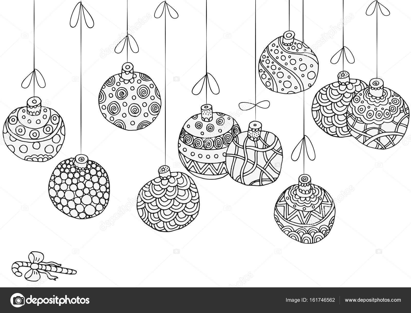 hängende weihnachtskugeln — stockvektor © imhopeyandexru