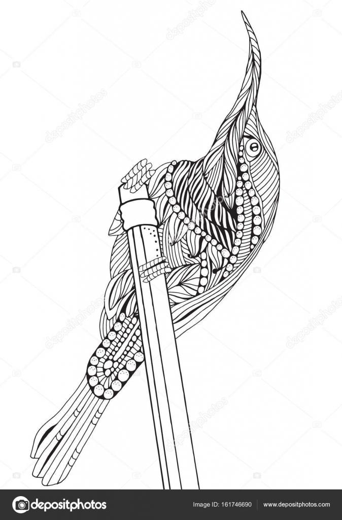 Lápiz y pájaro lindo — Archivo Imágenes Vectoriales © imhope.yandex ...