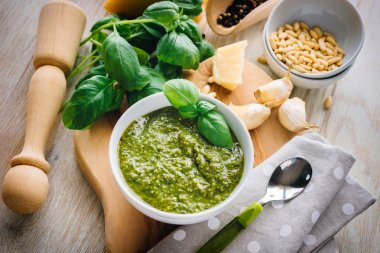 fresh made Pesto sauce