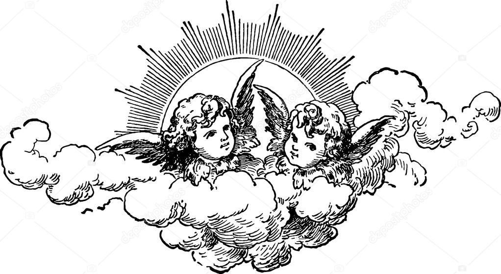 Vintage image angels