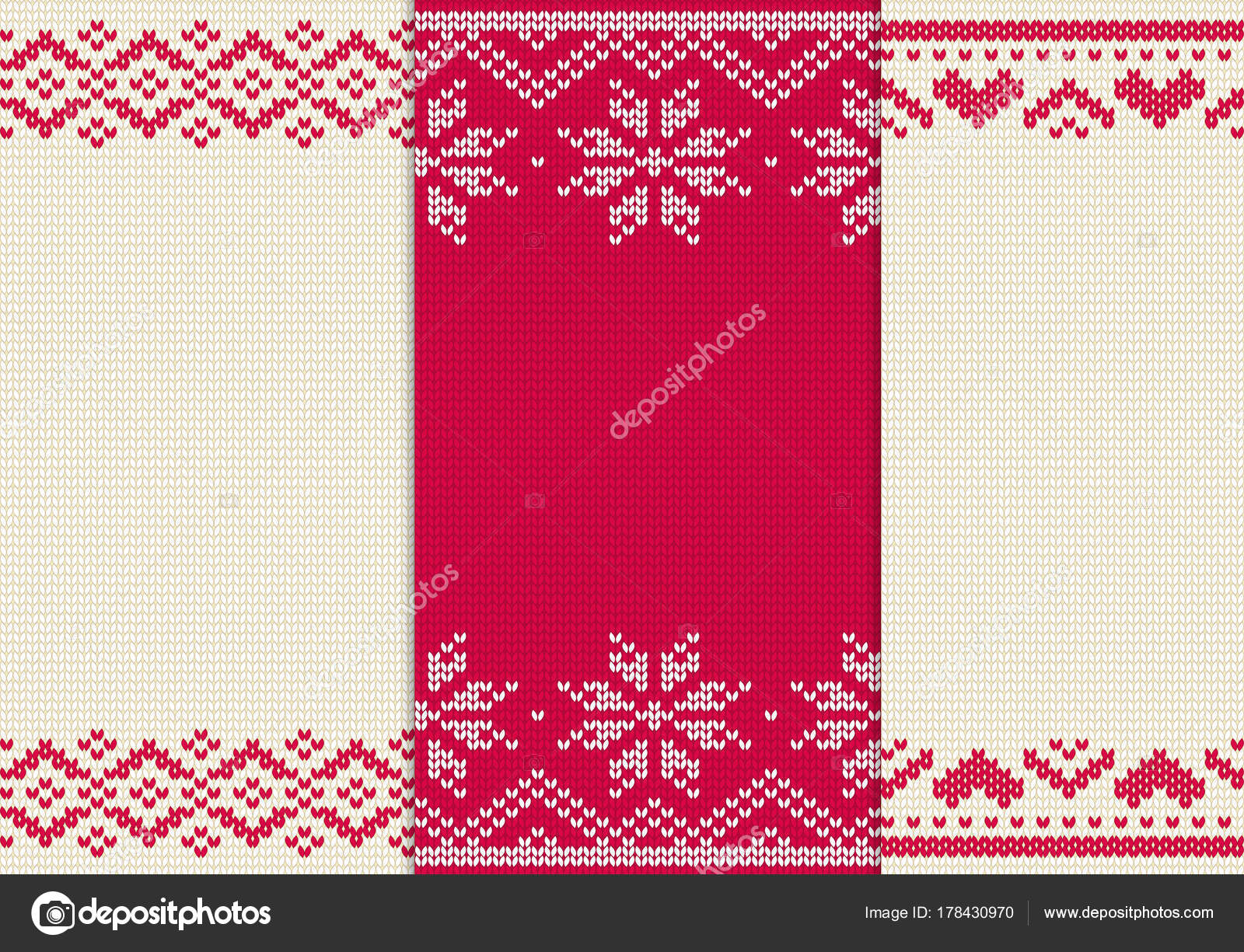 Conjunto de punto patrones sin fisuras para el suéter. Vector de ...