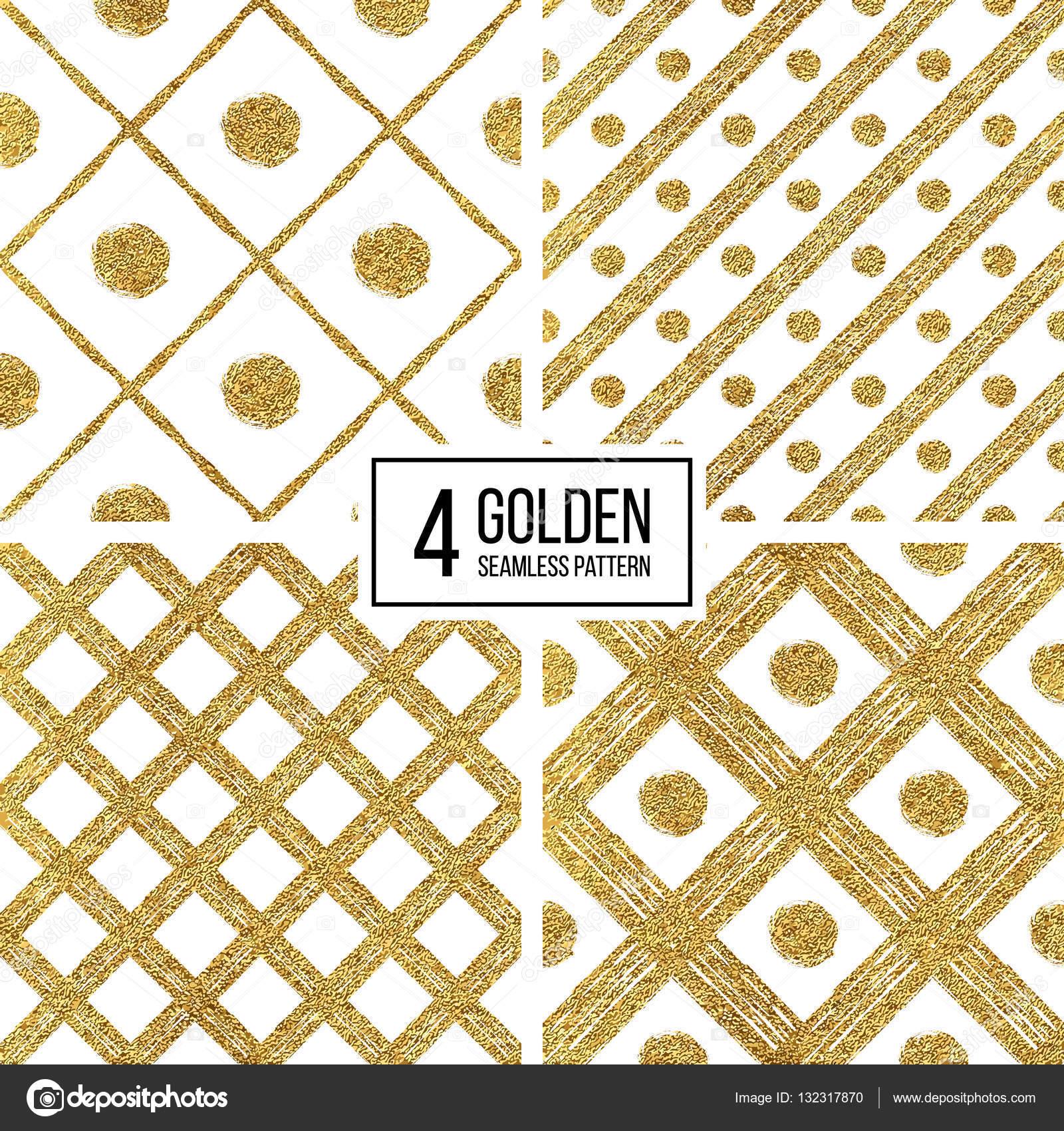 cb246fe0d6 Insieme del reticolo senza giunte del grunge di oro argento strisce  diagonali e cerchio, priorità bassa senza giunte dorato e silvern linee e  punti, ...