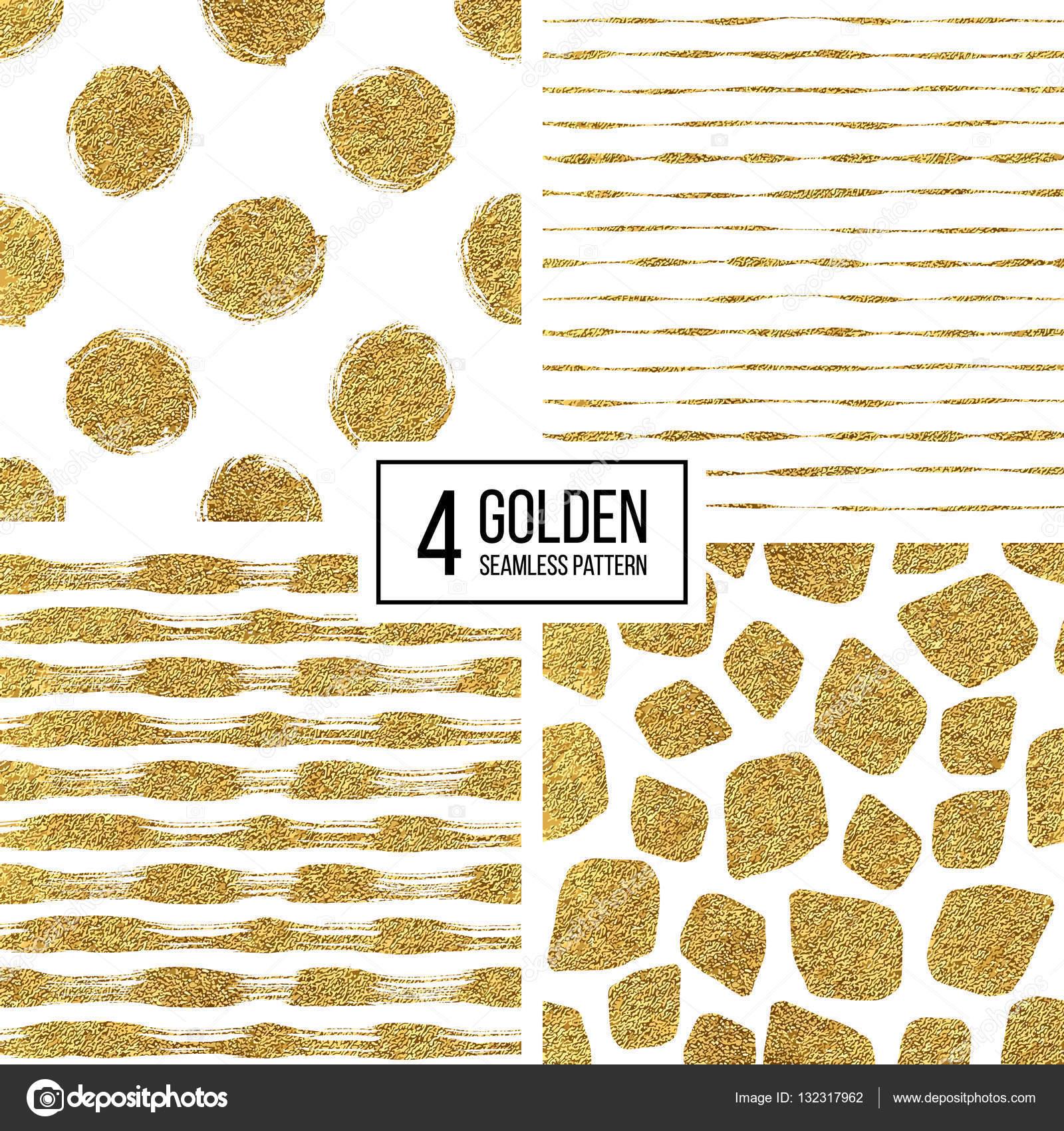 Nahtlose Textur goldenen Linien, Kreis, Punkt, Strich — Stockvektor ...