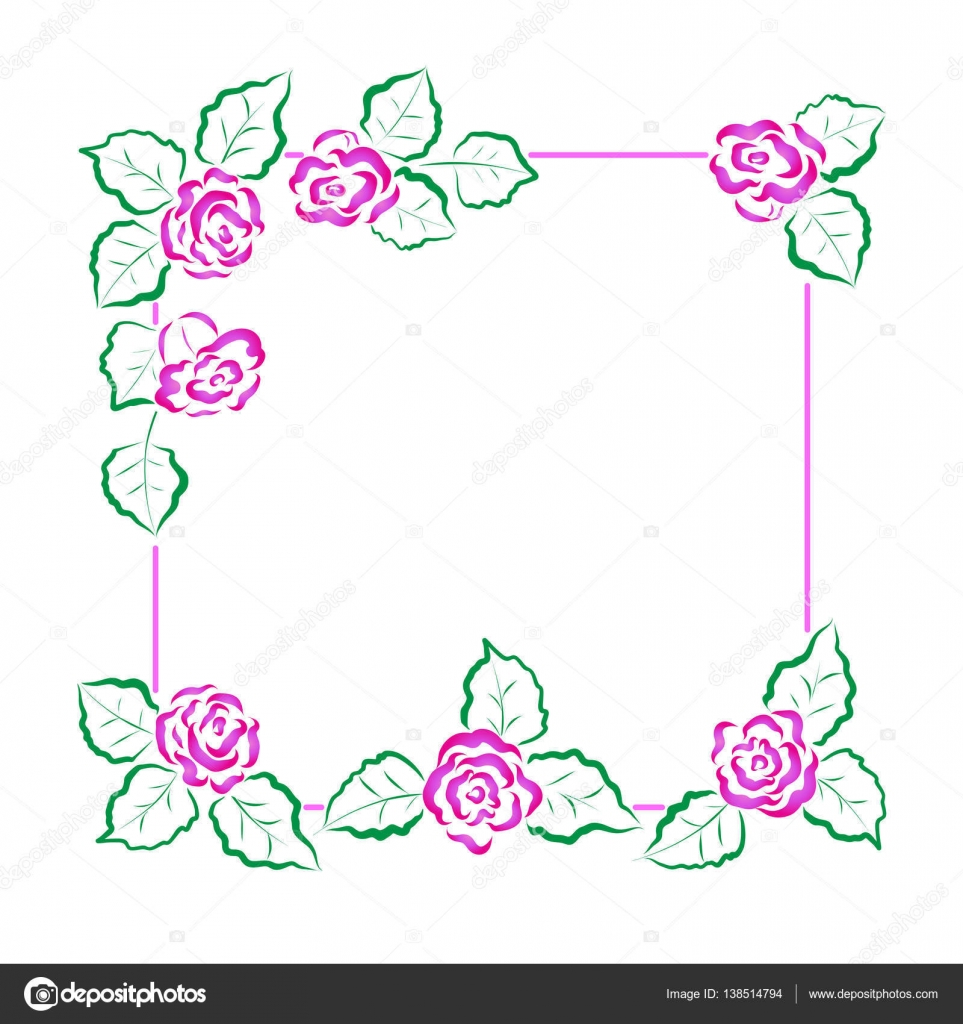 cute vector frames for valentine's day and other holidays. square