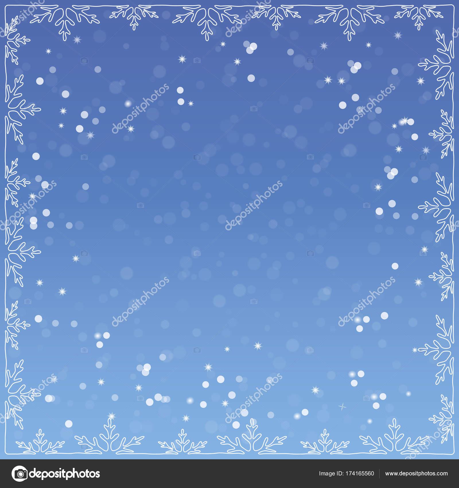 Vektor-Illustration von Weihnachten. Weihnachten-Rahmen aus ...