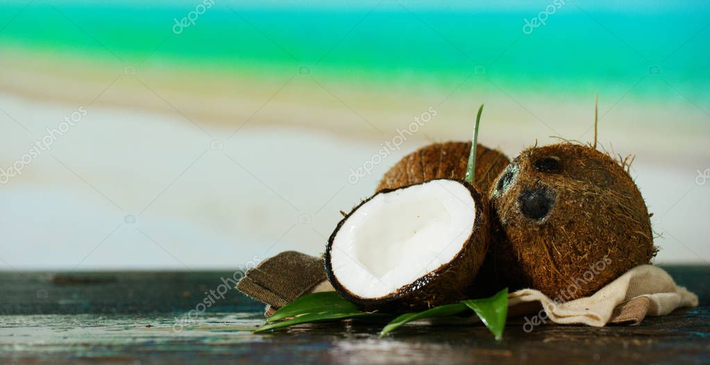 fresh nutritious coconut