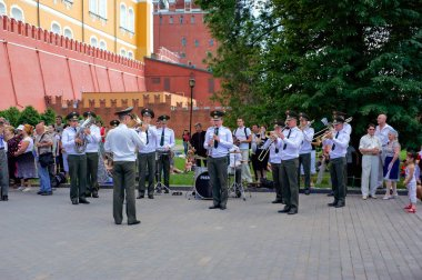 Musical orchestra in Moscow's Alexander Garden