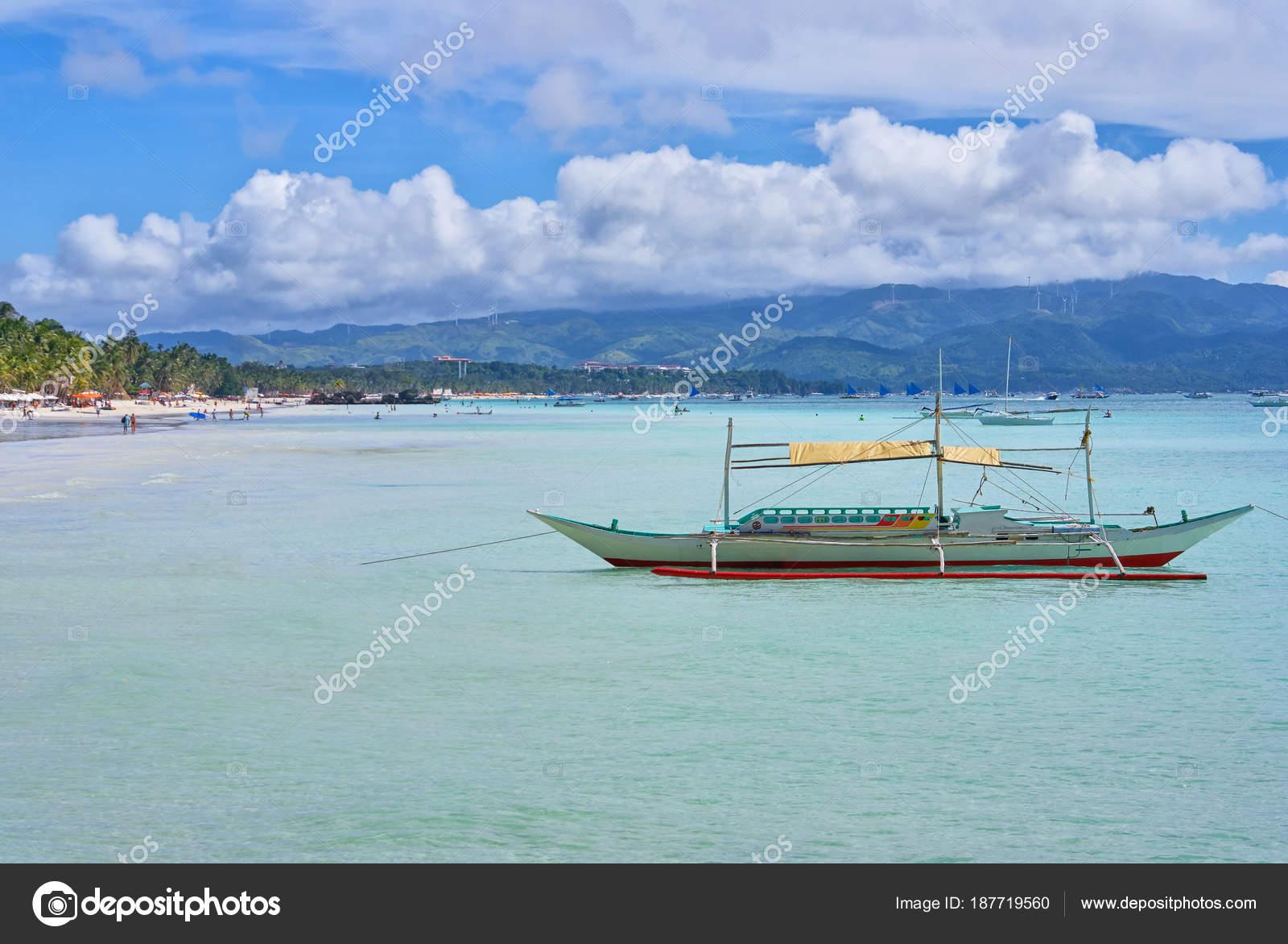 bangka boat boracay bay philippines stock photo dudewayap gmail
