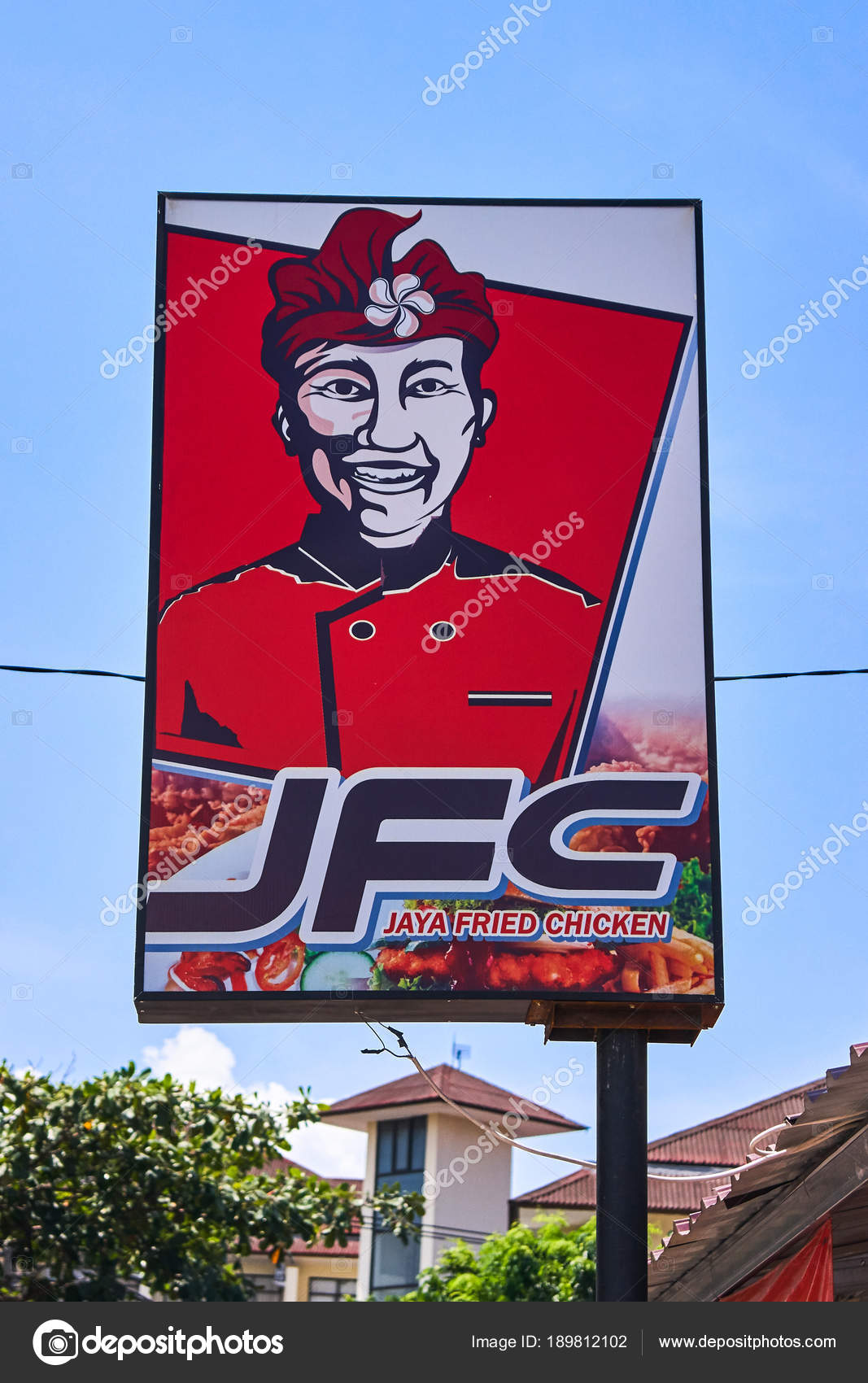 BALI, INDONESIA - DECEMBER 4, 2017: JFC, Jaya Fried Chicken fast