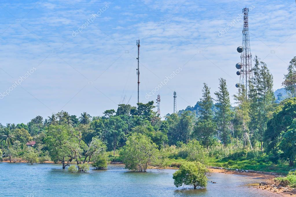 Koh Chang island comunication antenna, Thailand