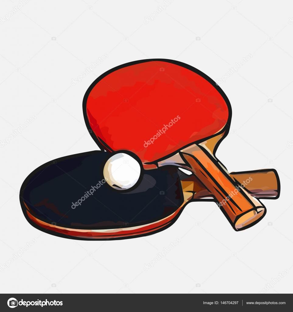 8d05f81ff raquetes de tênis de mesa de bola — Vetores de Stock © malyunak ...