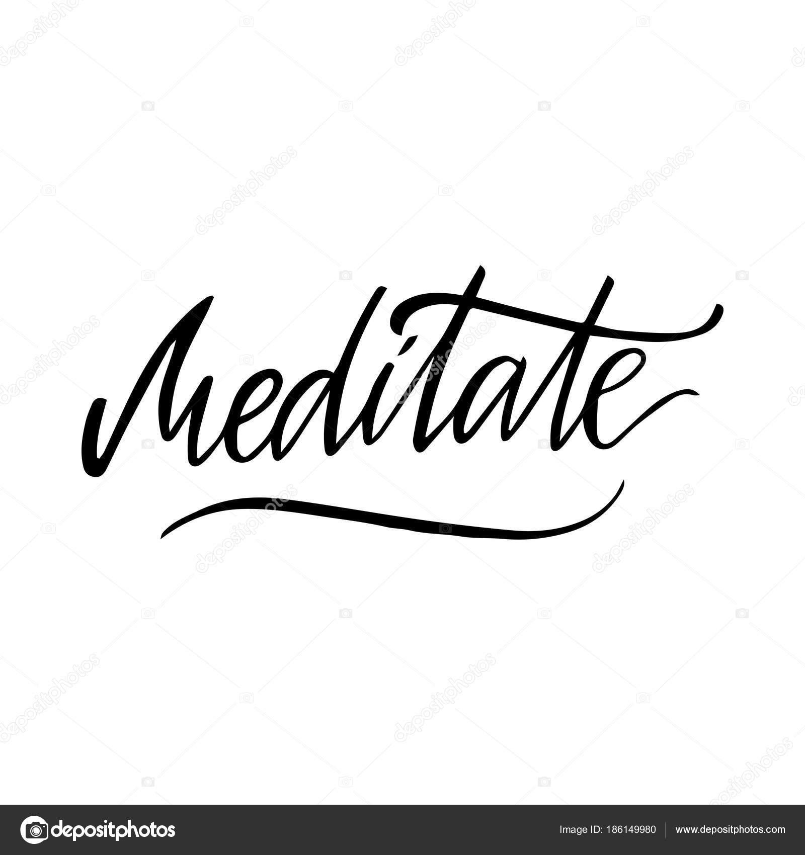 Letras Para Hacer Tarjetas De Cumpleanos Meditar Imagen De Vector