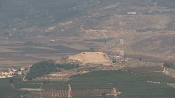 Israel, Circa 2011 - The Israel lebanon border with UN army posts