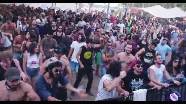 KINERET, ISRAEL, April 6 2018- People dancing in a nature trance party