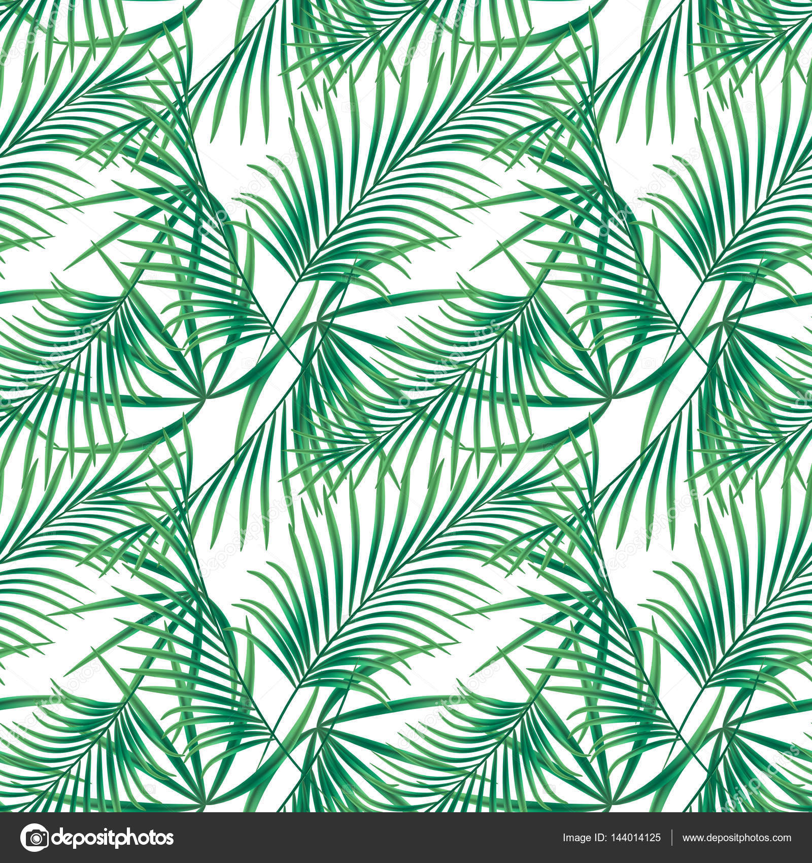 Seamless Tropical Floral Pattern On A White Background Stock