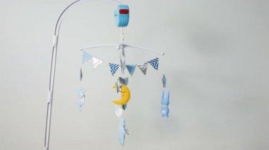 Gitterbett mobile: dushi musik mobile blau kinder spielzeug baby
