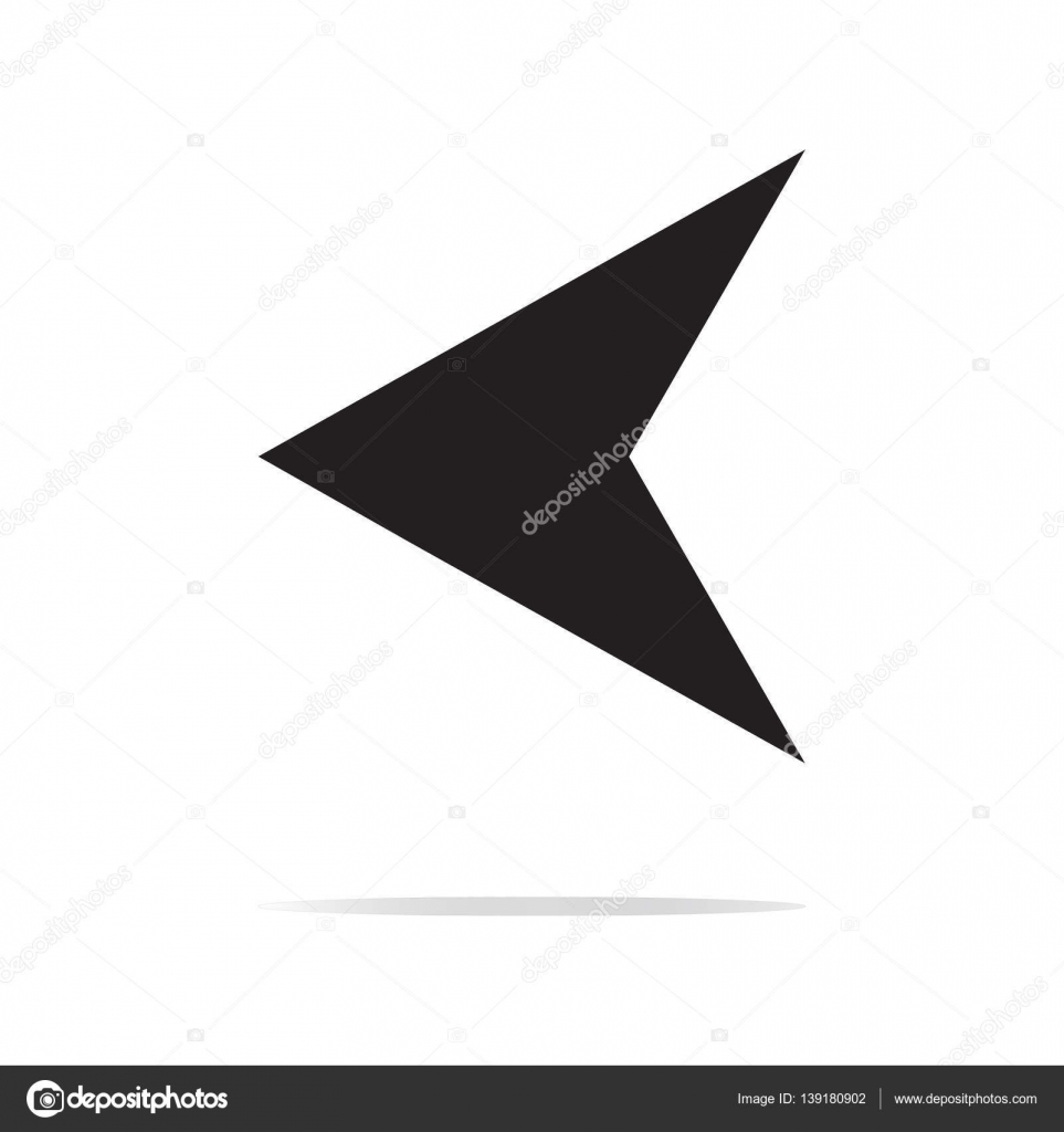 arrowhead left vector icon image style is a flat icon symbol on rh depositphotos com arrowhead vector file arrowhead vector black