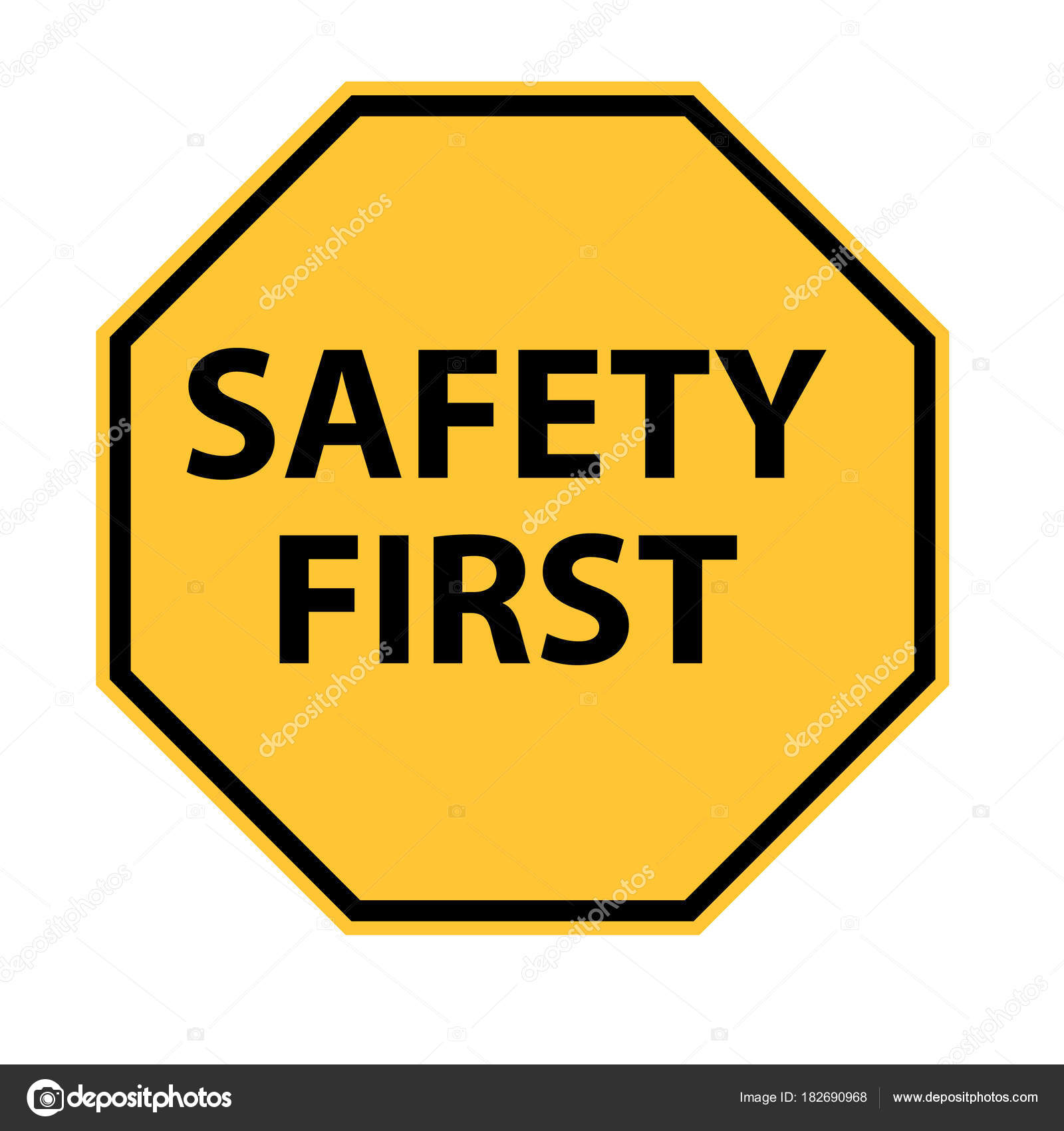 Safety first logo on white background safety first symbol safe safety first logo on white background safety first symbol safe stock vector biocorpaavc Choice Image