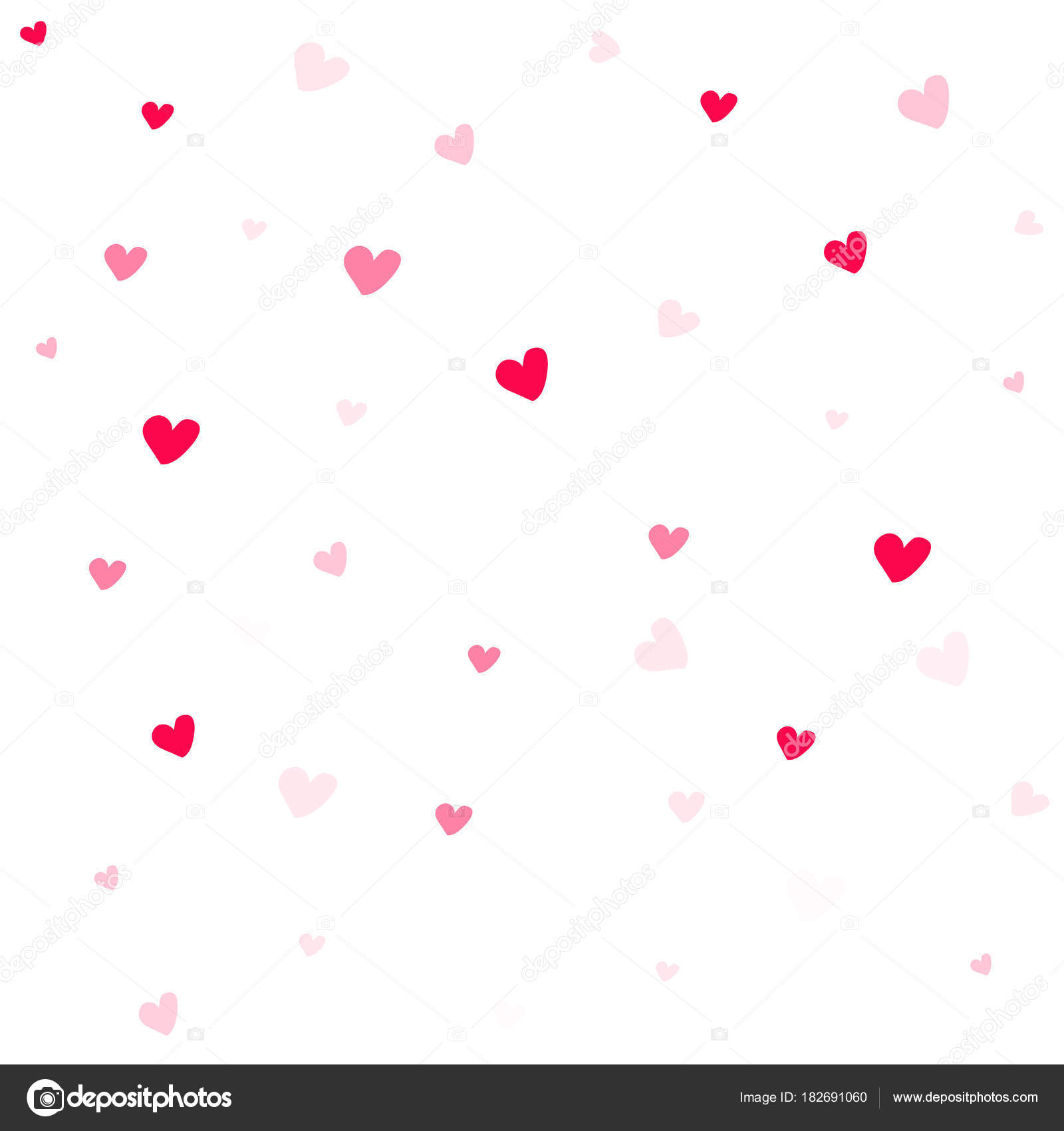 Valentine Background Abstract Hearts Wallpaper Heart On White Stock Vector