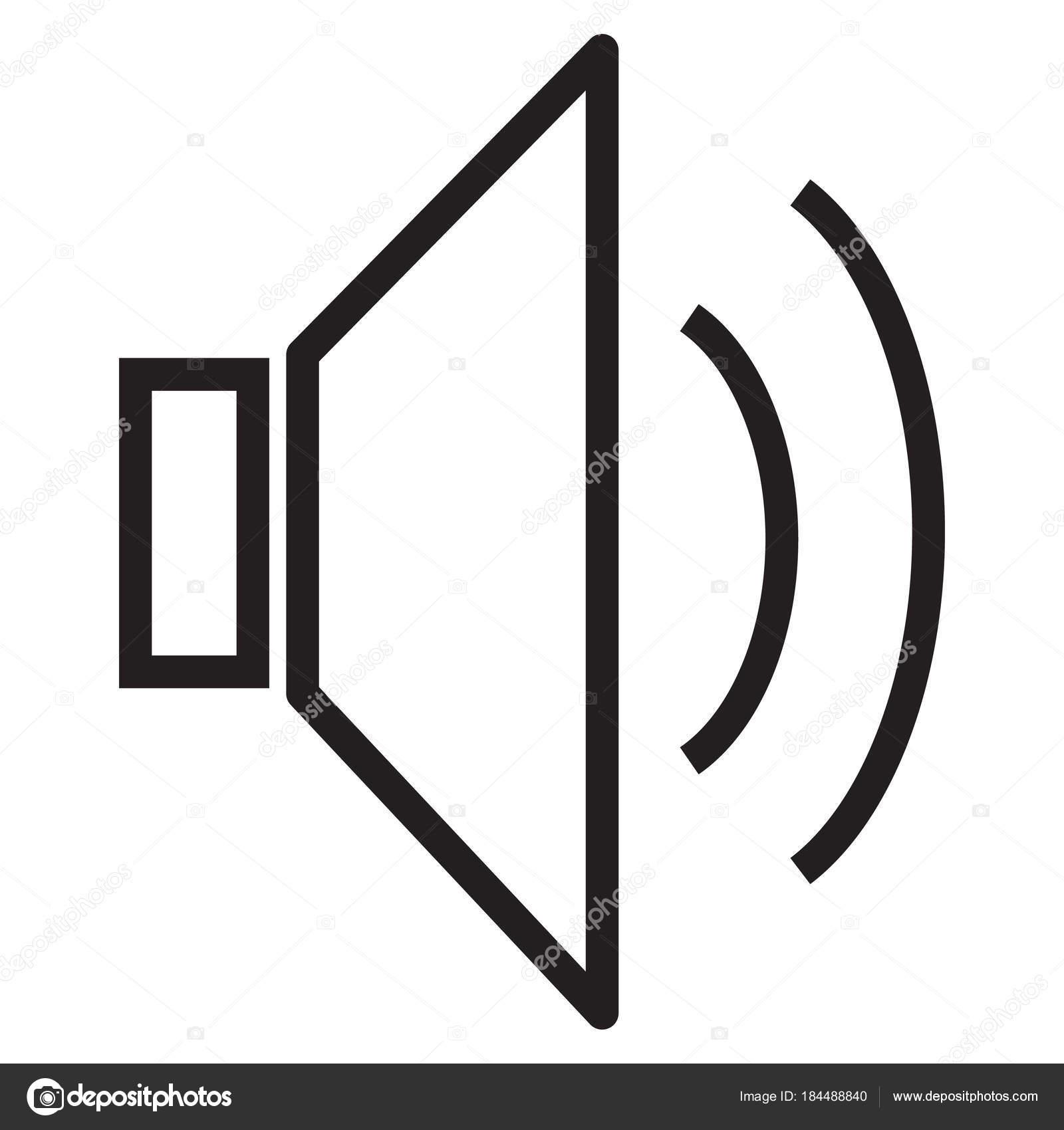 speaker icon, volume icon, speaker icon on white background, lou ...