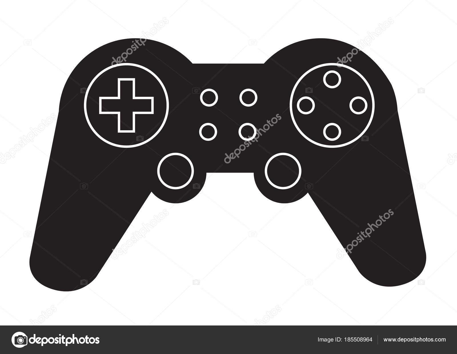 Game Controller Symbol Auf Weiem Hintergrund Flachen Stil Game