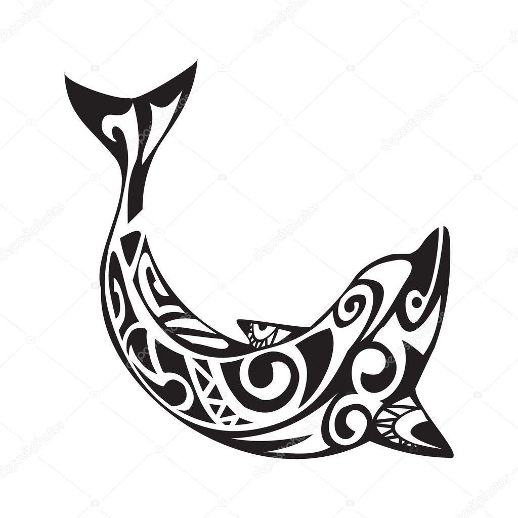 Dibujos Maories Infantiles Tatuaje De Delfines En Estilo Maori - Dibujos-maoris