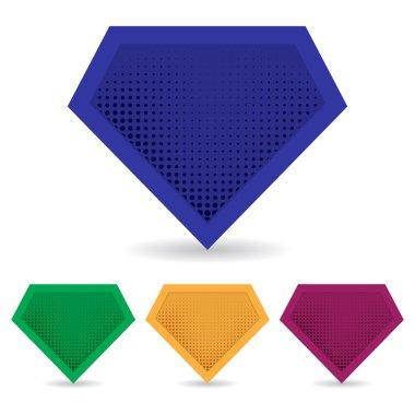 Set of superhero logo template. Vector, isolated, eps10.