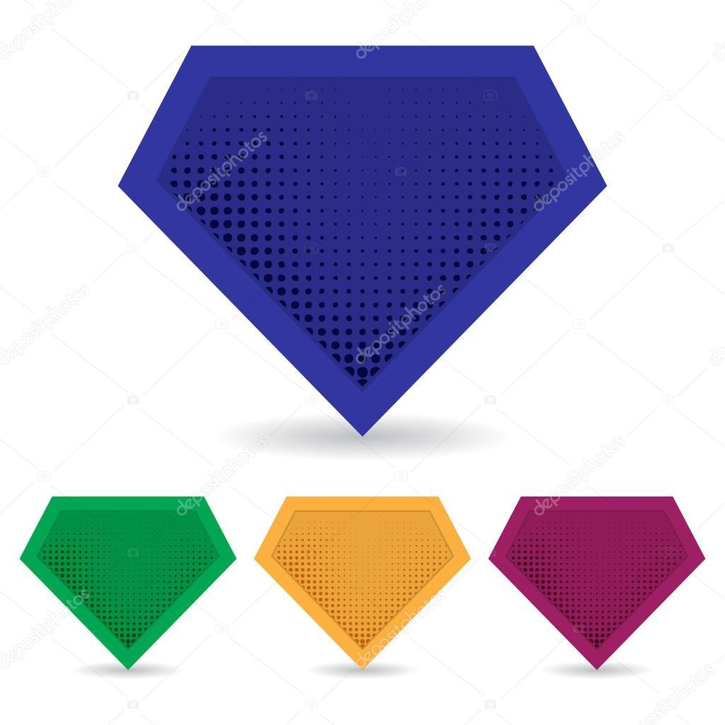 Reihe von Superhelden-Logo-Vorlage. Vektor, isoliert, eps10 ...