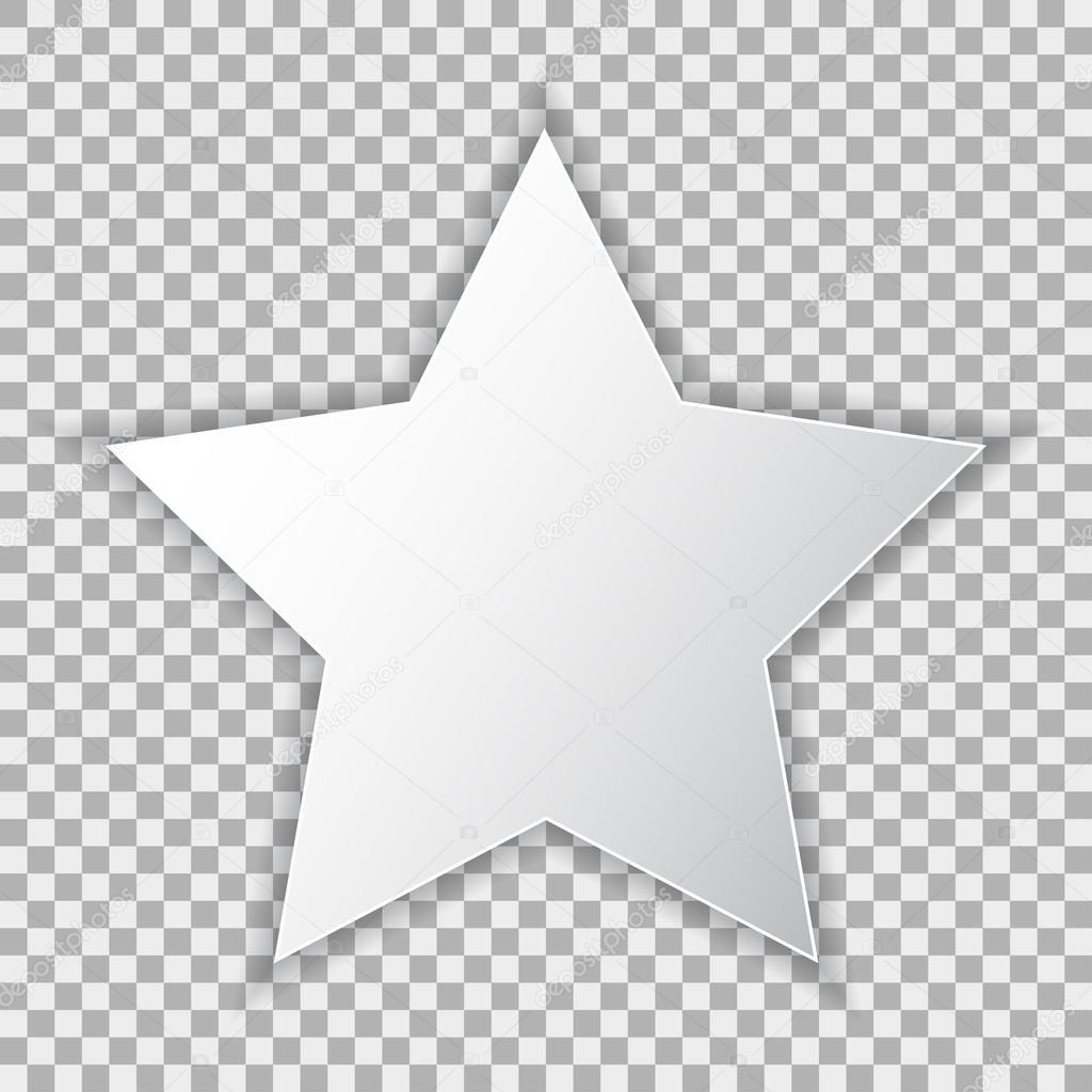 Weiße leere Plakat-Mock-up in Stern, Blatt Papier auf ...