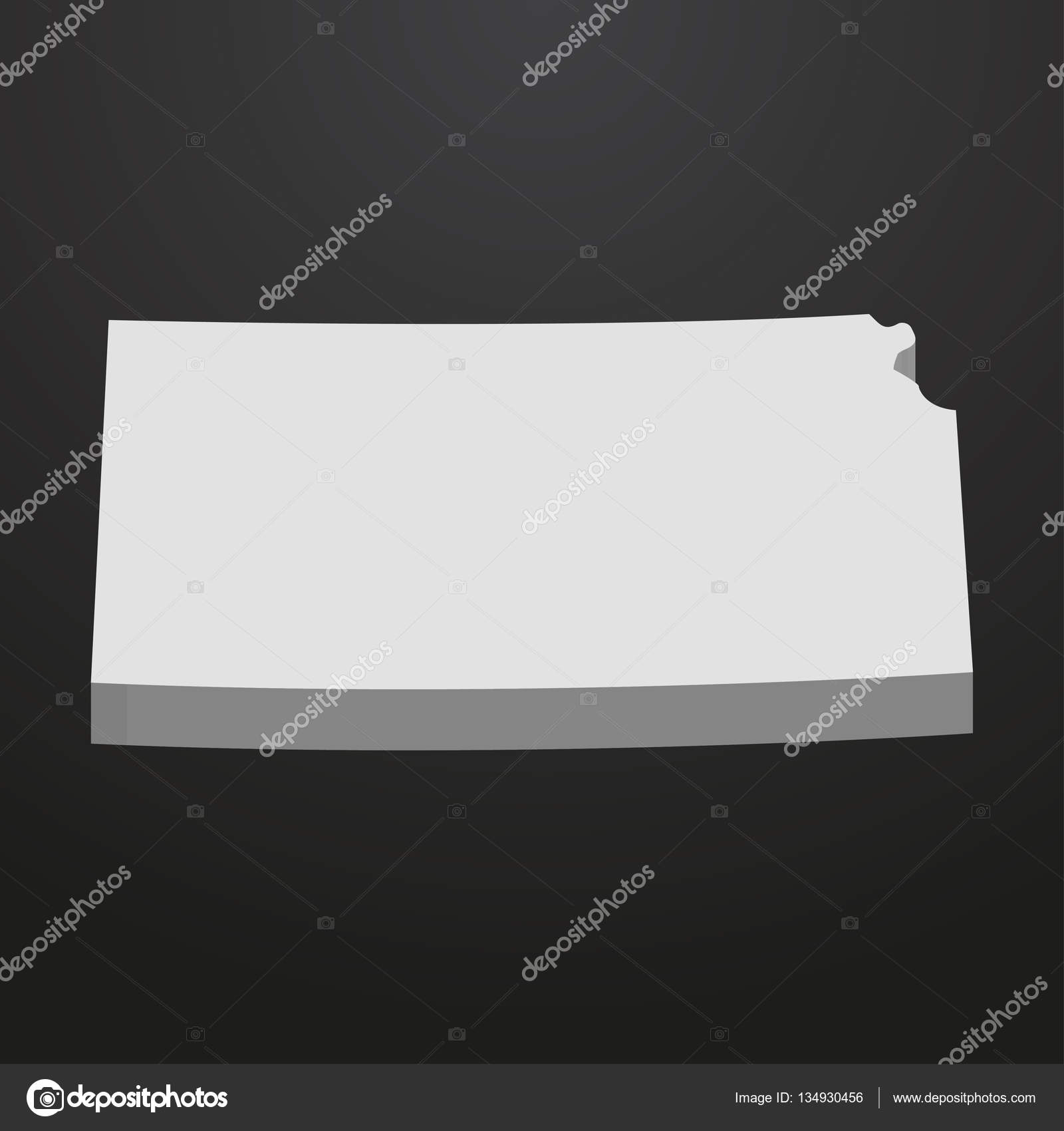 Kansas State map in gray on a black background 3d — Stock Vector on kansas state coloring sheets, kansas state pin up, kansas state purple pride, kansas state landscape,