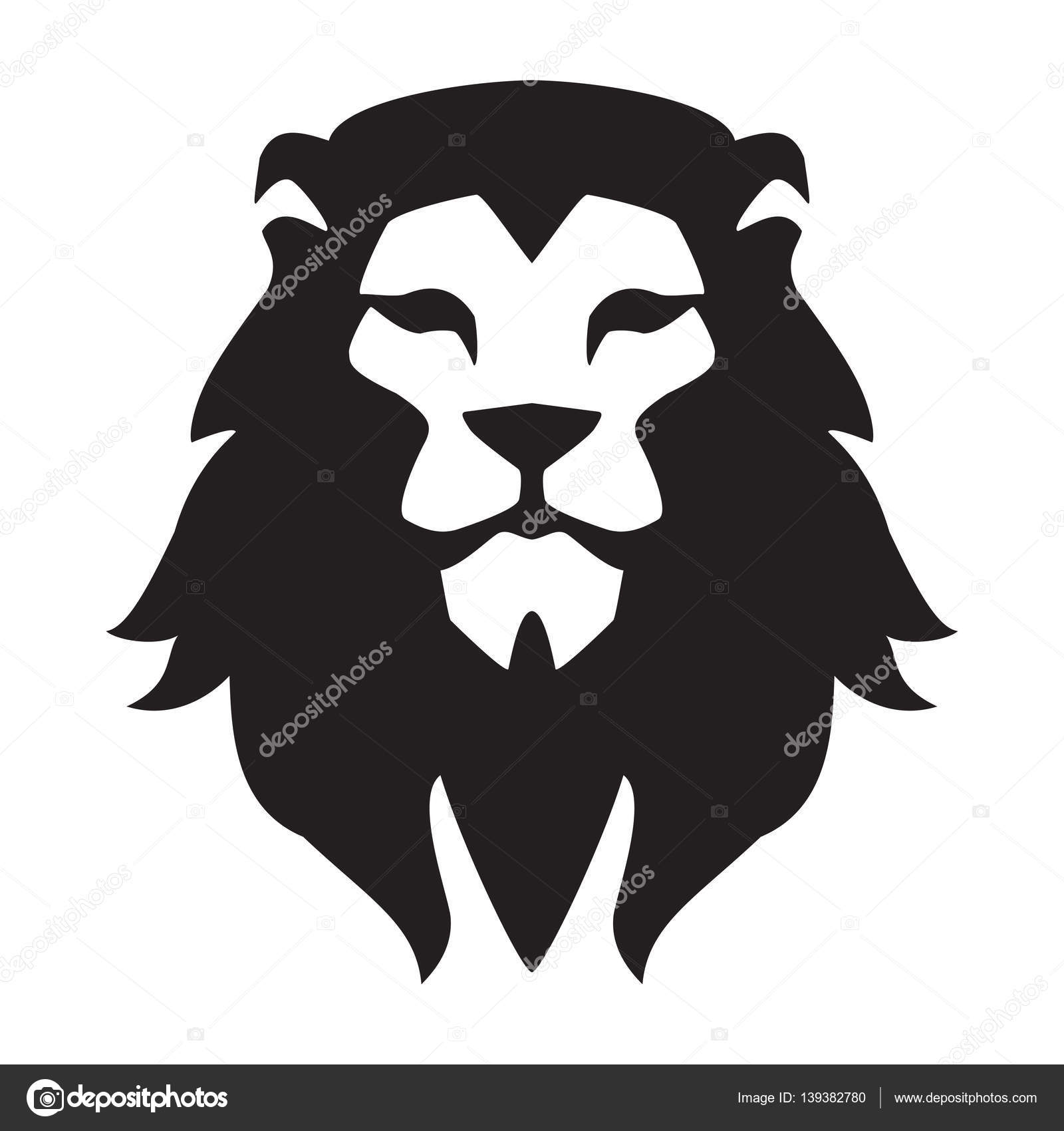 lion head logo template animal wild cat face graphic sign pride strong