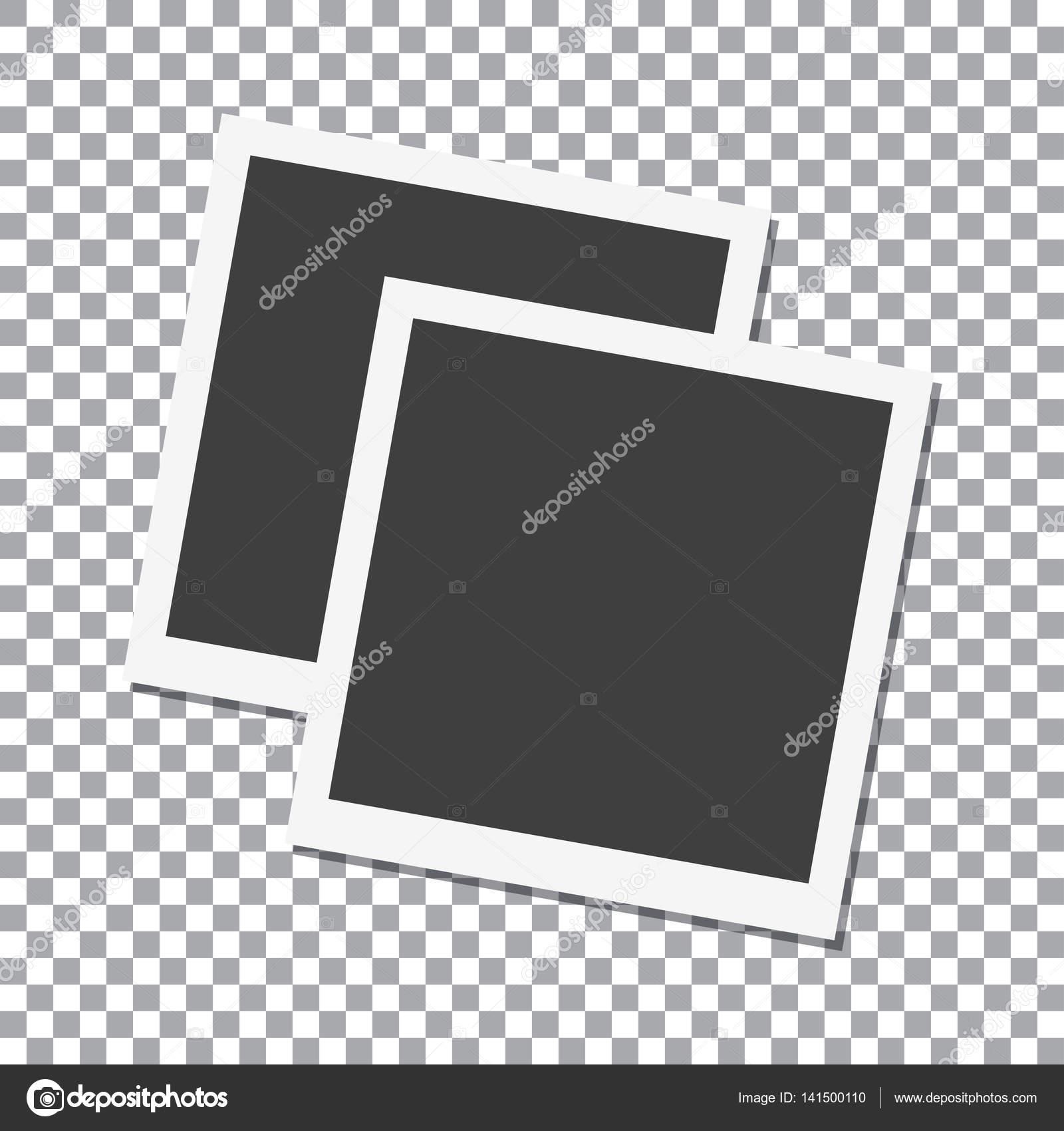 Zwei Bilderrahmen mit Schatten auf zu isolieren, Hintergrund, Vektor ...