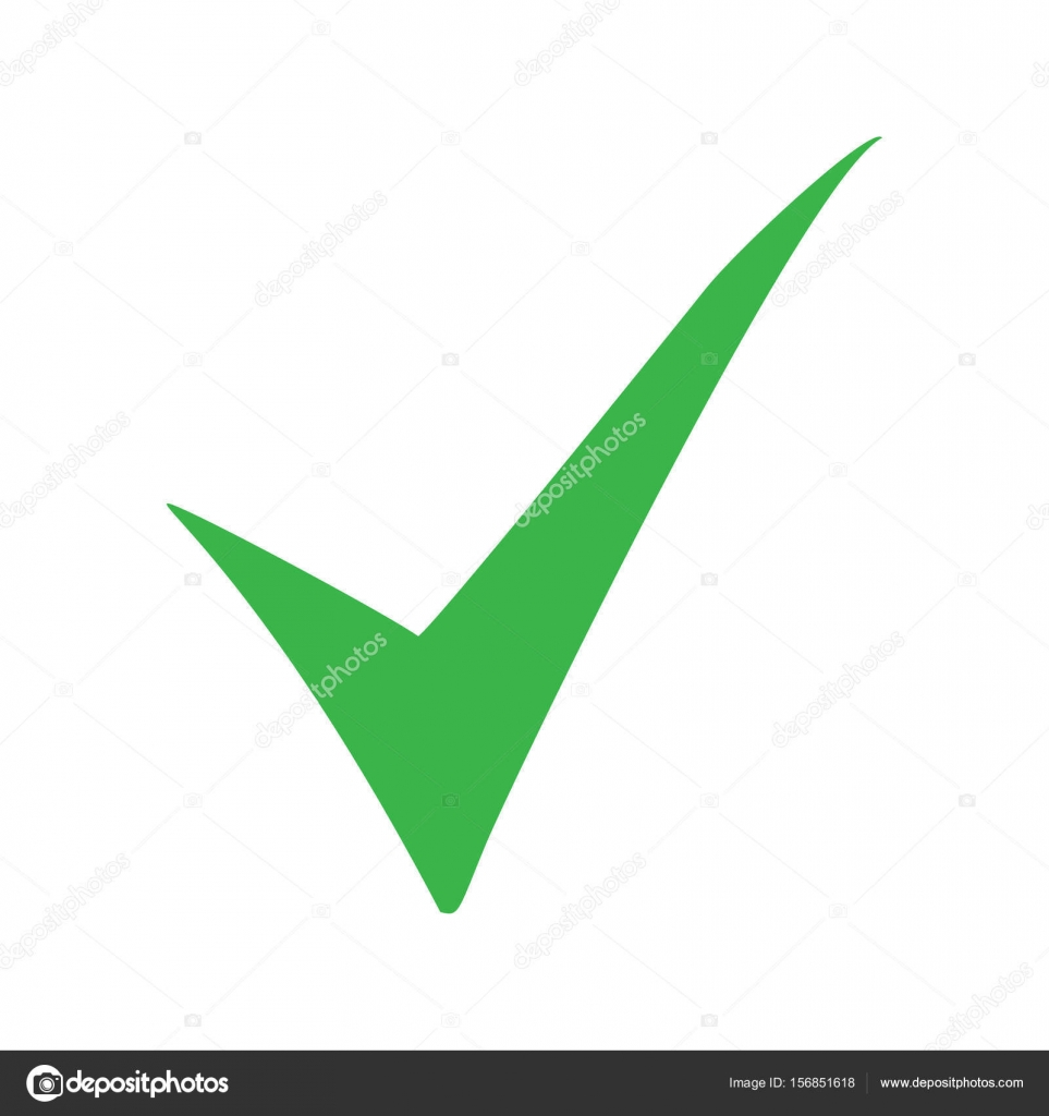 Green check mark icon tick symbol in green color vector green check mark icon tick symbol in green color vector illustration stock vector biocorpaavc Image collections