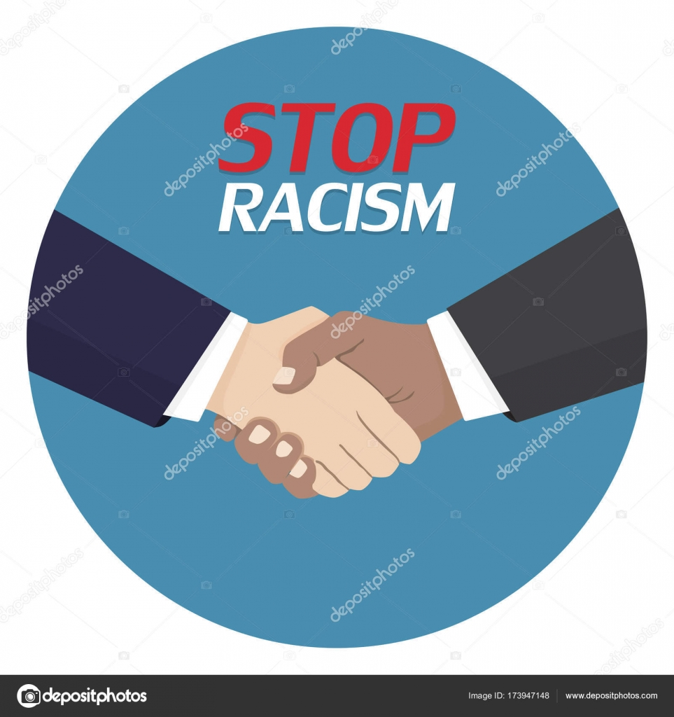 No to racism poster discrimination symbol handshake icon vector no to racism poster discrimination symbol handshake icon vector illustration stock vector biocorpaavc Images