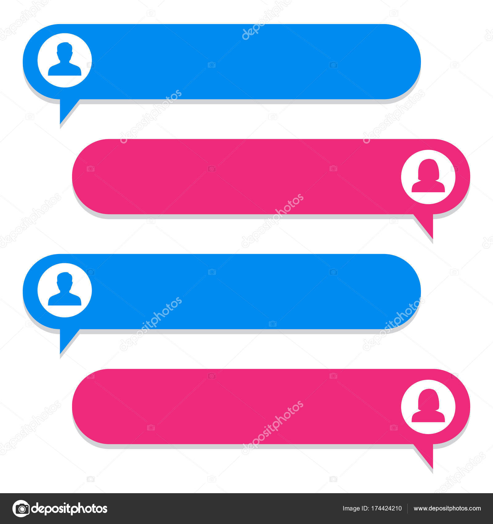 chat bubble chat dialog on white background vector illustration