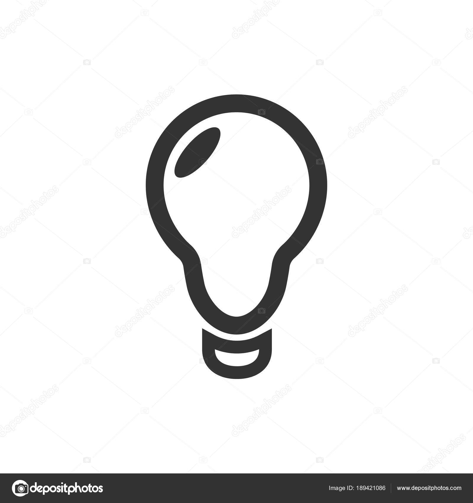 icon lighting. Brilliant Lighting Light Bulb Line Icon Vector Isolated On White Background Idea Sign  Solution In Icon Lighting