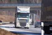 Fuerth / Německo – 22. února 2018: kamionu z českého serveru pro předávání lze použít na německé dálnici