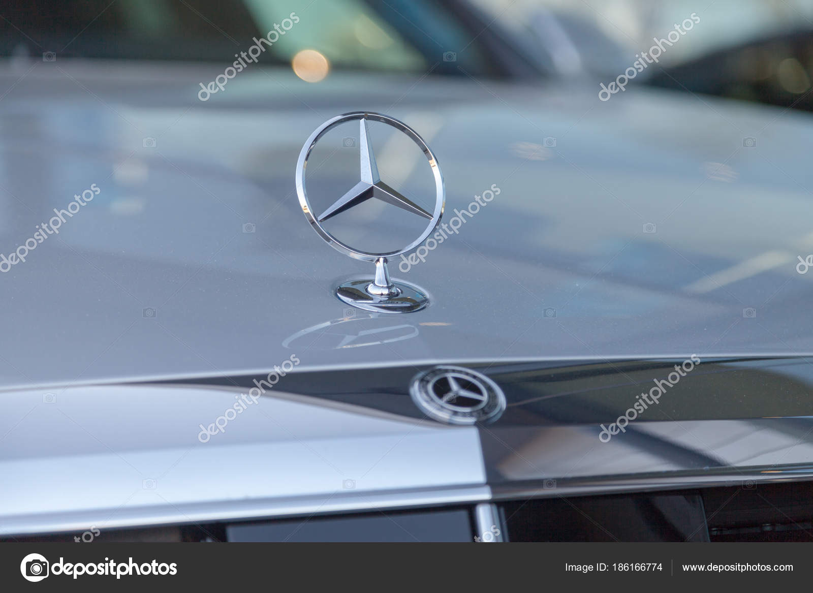 Fuerth Germany February 2018 Mercedes Benz Symbol Car Mercedes Benz