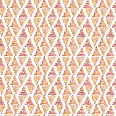 Watercolor triangle geometrical seamless pattern