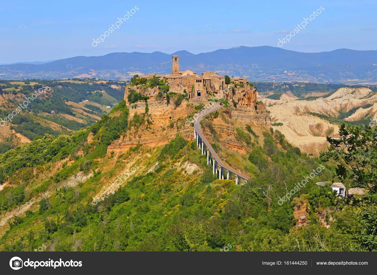 Civita Di Bagnoregio Town In The Province Of Viterbo Italy