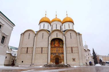Assumption Cathedral, Cathedral Square, Inside of Moscow Kremlin, Russia.