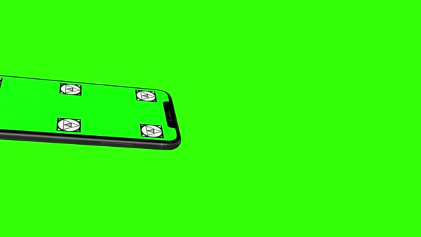 Smartphone mit Greenscreen isoliert