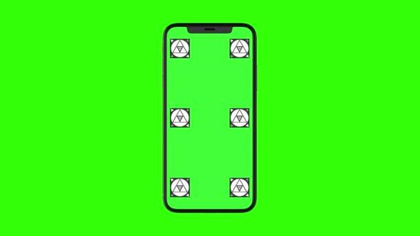 Smartphone mit Greenscreen isoliert