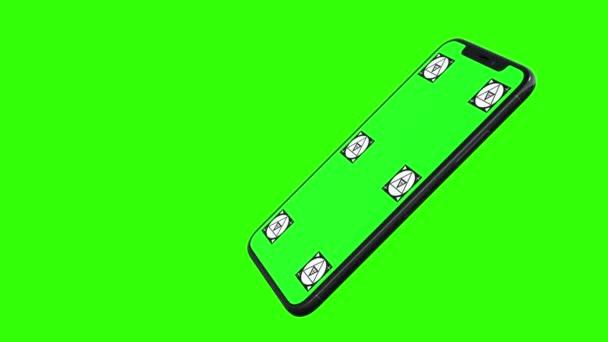 Chytrý telefon s zeleným plátnem, samostatný
